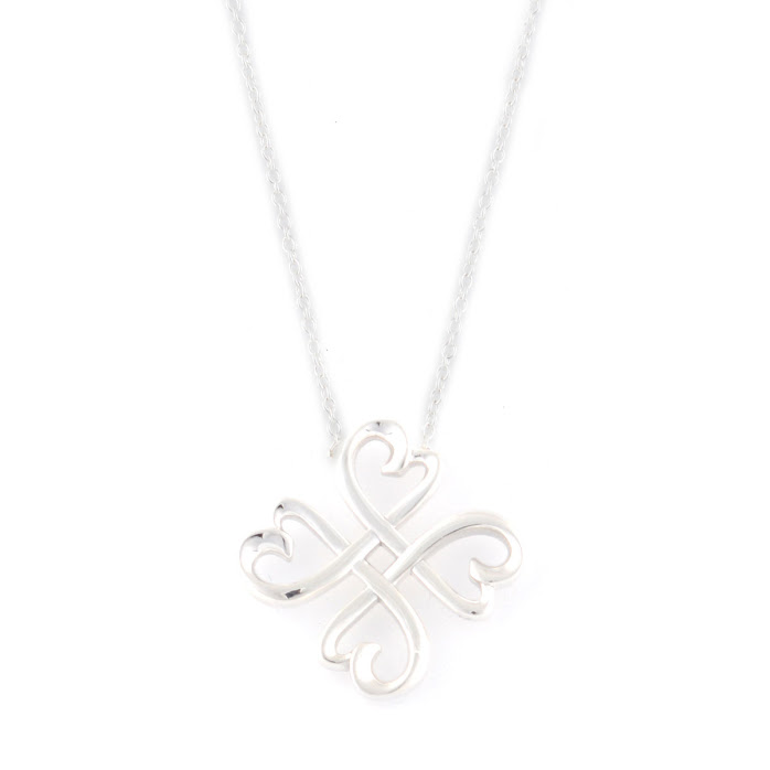 cb51ea0b54d Tiffany Tiffany CO 33914679 Paloma Picasso lucky loving heart pendant 18 in sterling  silver necklace ...