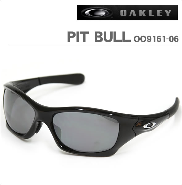 709cc185757 Oakley Sunglasses PIT BULL Pitbull OO9161-06 polished black polarized lenses  Asian fit