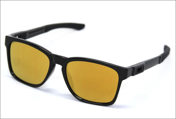 ab824d926f9 Oakley Sunglasses OO9272-04 CATALYST polished black 24 K Iridium Asian fit