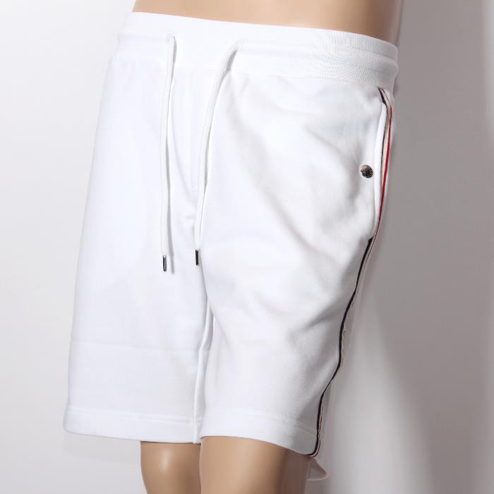 MONCLER MONCLER shorts white 8706500 80948 001 Trico roll line panties cotton pants men's