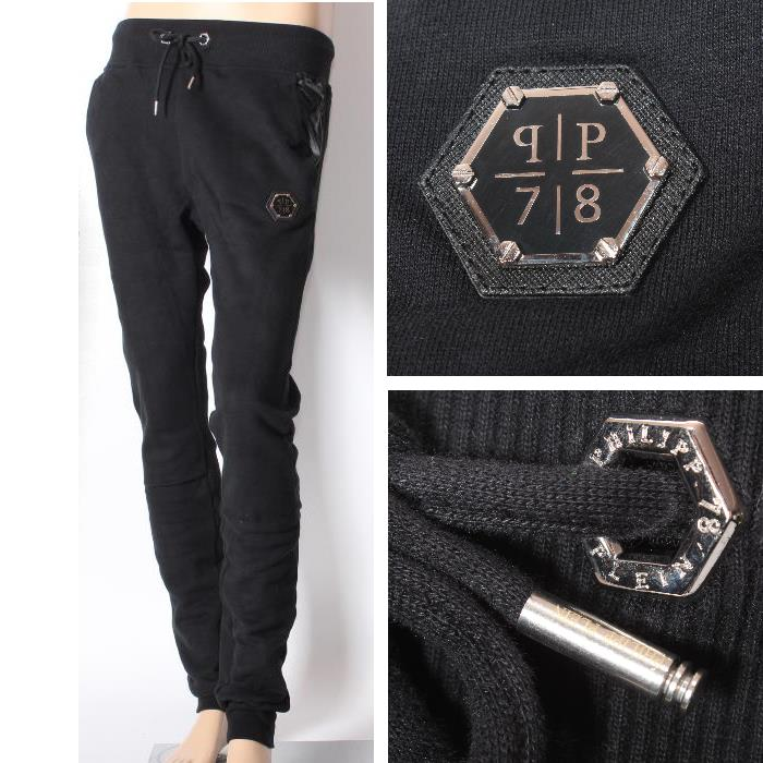 top brands hot-selling fashion the cheapest PHILIPP PLEIN Philip plane sweat suit black HM660805 HM631331 02 zip up  parka hooded blouson sweatpants top and bottom set men