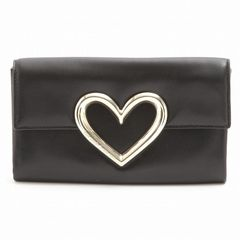 KATE SPADE resin heart clutch clutch bag heart Gifts Valentine Day gift women's black Kate spade