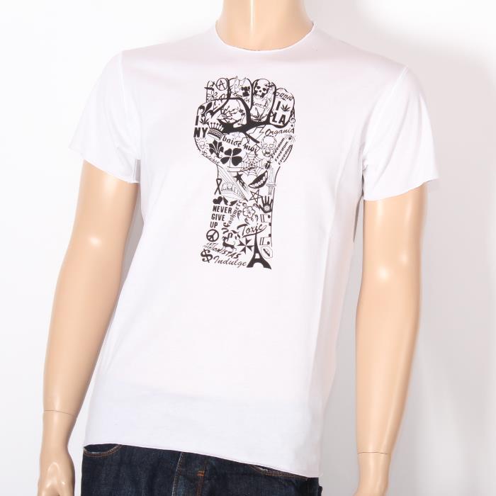 【売れ筋】LUCIEN PELLAT-FINET ルシアンペラフィネ 半袖Tシャツ EVH1769 WHITE ホワイト スカル ヘンプ ピース メンズ 【新品・未使用・正規品】売れ筋
