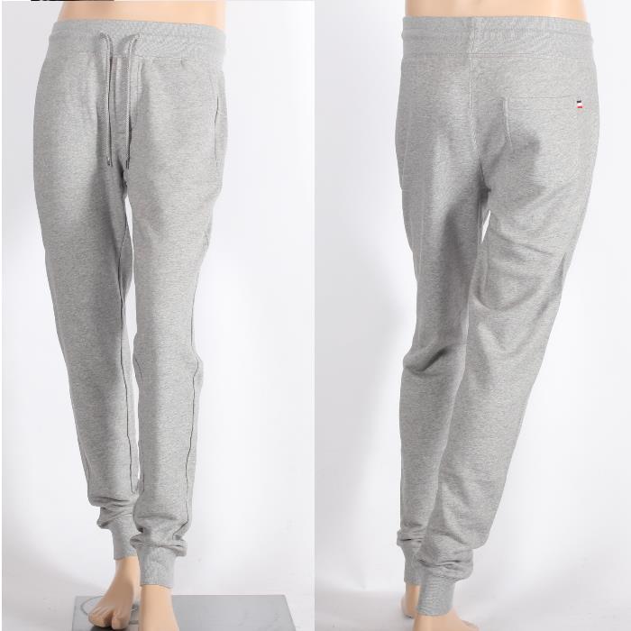 MONCLER MONCLER sweatpants grey 8703000 80945 910 tricolor tag cotton pants Jersey mens