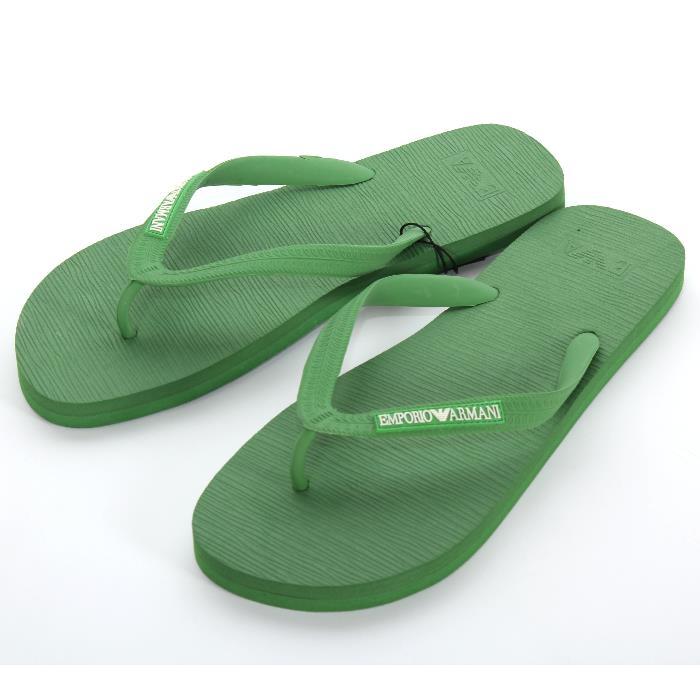 Men's Slippers Sandals Rubber Green