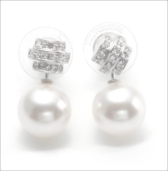 5195fc35f Swarovski Perpetual white crystal パールパヴェ 2WAY pierced earrings 1106454 ...