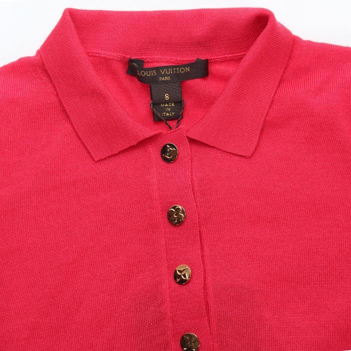 c6e3fb49d33a LOUIS VUITTON Louis Vuitton junior kids one piece RW112E  8A red beige  short-sleeve polo shirts cashmere collection