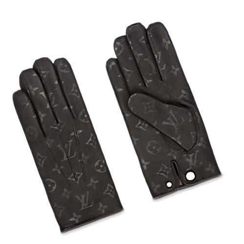 ee165ce52c95 LOUIS VUITTON Louis Vuitton gloves glove MP1809 monogram black leather men