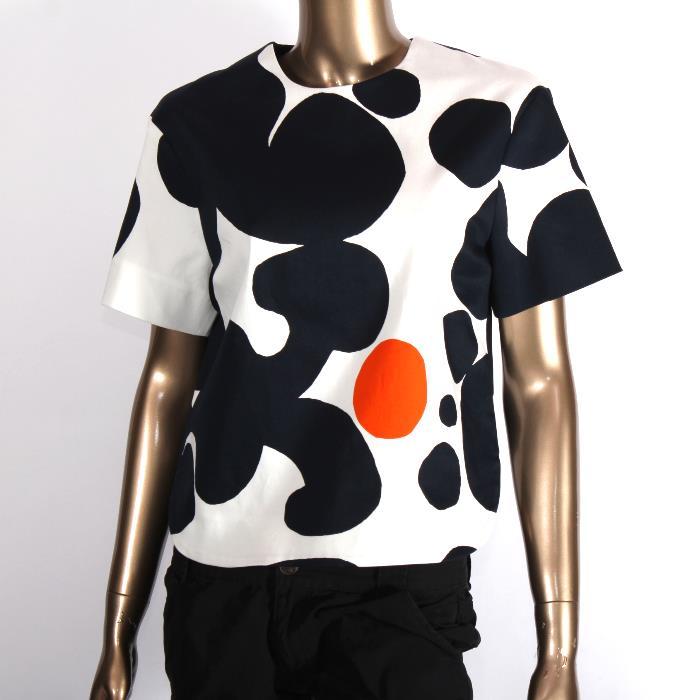 【訳有り】MARIMEKKO マリメッコ カットソー ホワイト CHILAM 042721 152 34サイズ Tシャツ レディース 【T】【新品・未使用・正規品】
