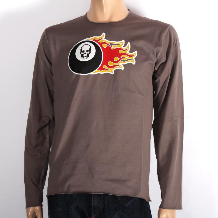 LUCIEN PELLAT-FINET ルシアンペラフィネ 長袖Tシャツ EVH1870 ELK スカル ロンT メンズ 【T】【新品・未使用・正規品】