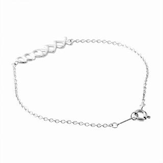 Tiffany TIFFANY&CO 37220574 Paloma Picasso graffiti love & kiss bracelet medium SS 18cm