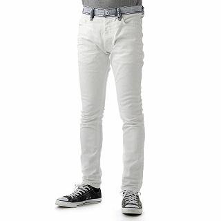 ディーゼル DIESEL 00CKRH 0840R 100 PANTS TEPPHAR L.30 PANTALONI ホワイトデニムジーンズ メンズ 【新品・未使用・正規品】