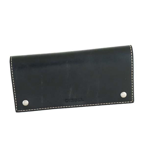 ディーゼル DIESEL X04737 PR080 T6065二つ折り財布ネイビー【】【新品/未使用/正規品】