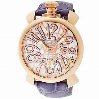 GAGA MIOLANO ガガ ミラノ 腕時計MANUALE48mm モザイク 5011MOSAICO01S-CHERY●【新品・未使用・正規品】