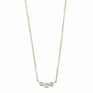 マレア リッチ Marea rich 14KJ-16 K10×ダイアモンド 3粒ダイア ネックレス ペンダント Precious Standard Necklace【r】【新品/未使用/正規品】