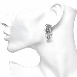 Swarovski 5289716 Crystal Mesh Short Pierced Earrings Fit