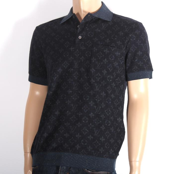 ec7a4fbf2076 LOUIS VUITTON Louis Vuitton-limited short-sleeved polo shirt All-over style  tweed monogram 1A47GE
