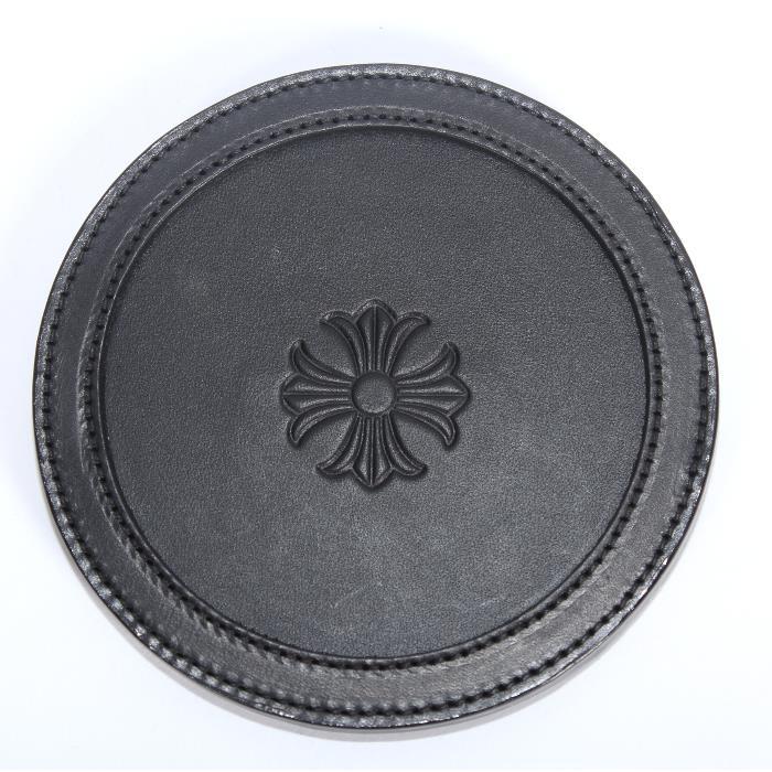 【売れ筋】CHROME HEARTS クロムハーツ レザーコースター 2812-304-6290 CHプラス クロス 【新品・未使用・正規品】