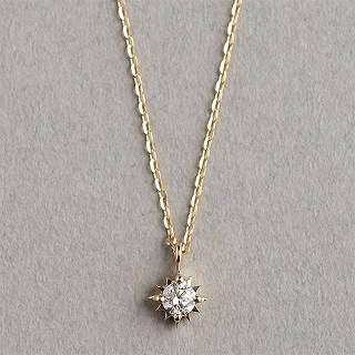 マレア リッチ Marea rich 18KJ-01 K10×ダイアモンド ネックレス ペンダント Precious Collection【r】【新品・未使用・正規品】