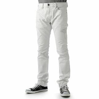 ディーゼル DIESEL 00CKS1 0672N 100 PANTS THAVAR L.32 PANTALONIデニムジーンズ メンズコットンパンツホワイト 【c】【新品・未使用・正規品】