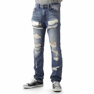 ディーゼル DIESEL 00CKS1 0846Y 01 PANTS THAVAR L.32 PANTALONIデニムジーンズ メンズパンツ クラッシュ【c】【新品・未使用・正規品】