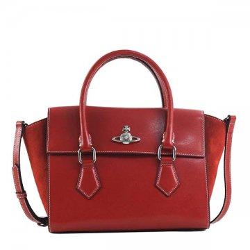 ヴィヴィアンウエストウッド 42020035 MATILDA REDハンドバッグ【】【新品/未使用/正規品】