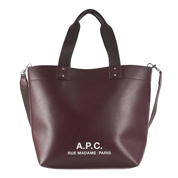 A.P.C. アーペーセー APC F61294 PUAAJ GAC WINEワインレッド トートバッグ 【】【新品・未使用・正規品】