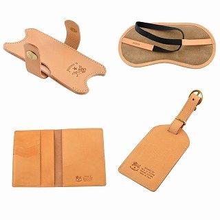 イルビゾンテ IL BISONTE K0287 120 Natural トラベル 4点セット パスポートケース イヤホンホルダー ラゲージタグ アイマスク r新品 未使用 正規品LSzVjMGqUp