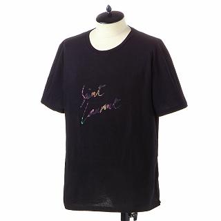 SAINT LAURENT PARIS サンローラン Tシャツ 553438 YBCL2 1068 JNOIR-MULTICOLOREブラック【c】【新品・未使用・正規品】