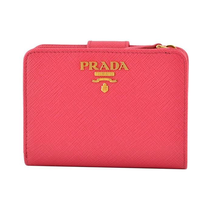 プラダ PRADA 1ML018 QWA 505 サフィアーノレザー 二つ折り財布【r】【新品・未使用・正規品】