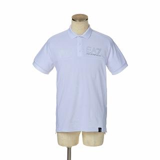 EMPORIO ARMANI エンポリオアルマーニ EA7 ポロシャツ 6ZPF07 PJ04Z 1100ホワイト【c】【新品・未使用・正規品】