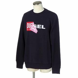 DIESEL ディーゼル 00S8WC 0IAEG 900 スウェットシャツ トレーナーブラック【c】【新品/未使用/正規品】