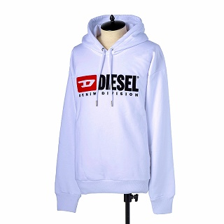 DIESEL ディーゼル パーカーフードスウエットシャツ 00SH34 0CATK 100ホワイト【c】【新品/未使用/正規品】