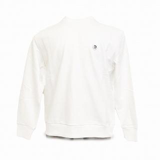 DIESEL ディーゼル 00SHEE 0NAUW 100 スウェットシャツ トレーナーホワイト【c】【新品/未使用/正規品】