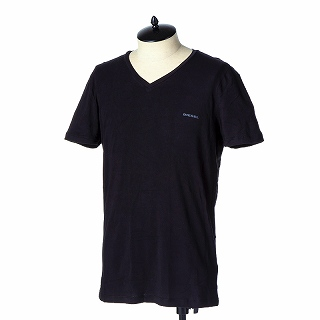 DIESEL ディーゼル Tシャツ 00SHGU 0JAQX 900ブラック【c】【新品/未使用/正規品】