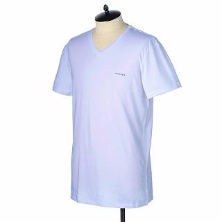 DIESEL ディーゼル Tシャツ 00SPDM 0AALW 100ホワイト【c】【新品/未使用/正規品】