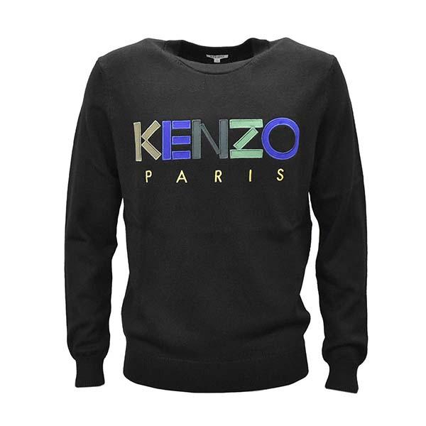KENZO ケンゾー F965PU2173LC メンズニット L BK 99ブラックセーター【】【新品/未使用/正規品】