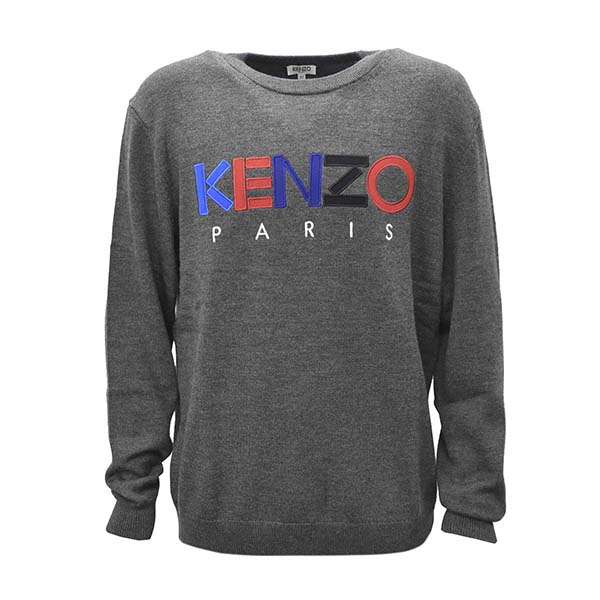 KENZO ケンゾー F965PU2173LC メンズニット L D.GY 98グレーセーター【】【新品/未使用/正規品】