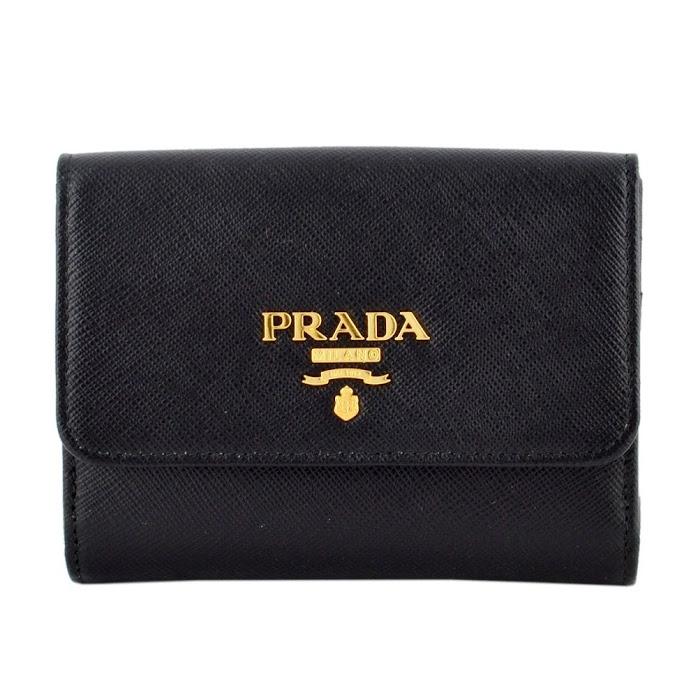 プラダ PRADA 1MH523 QWA 002 サフィアーノレザー 二つ折り財布【r】【新品・未使用・正規品】
