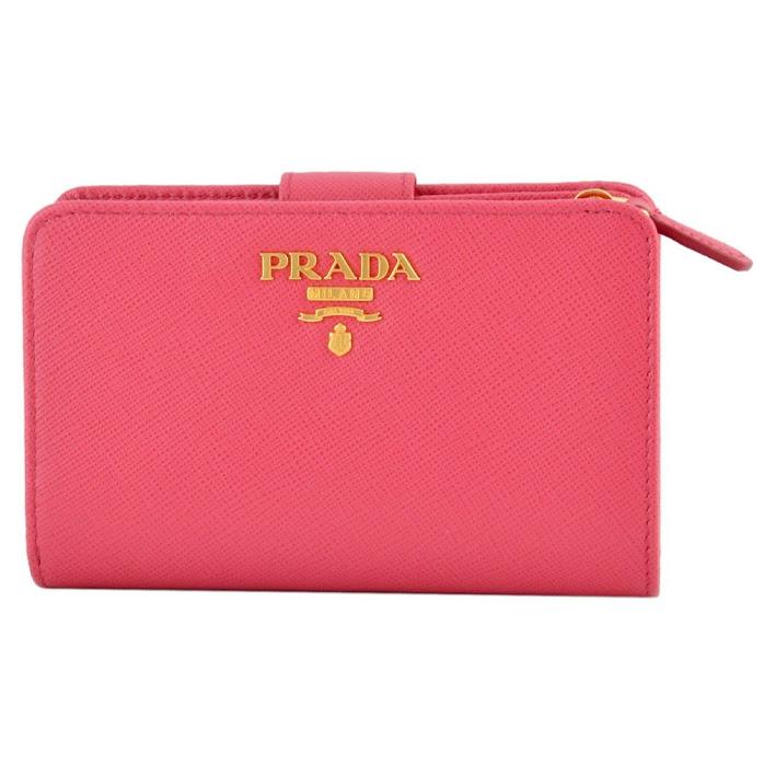 プラダ PRADA 1ML225 QWA 505 サフィアーノレザー 二つ折り財布【r】【新品・未使用・正規品】