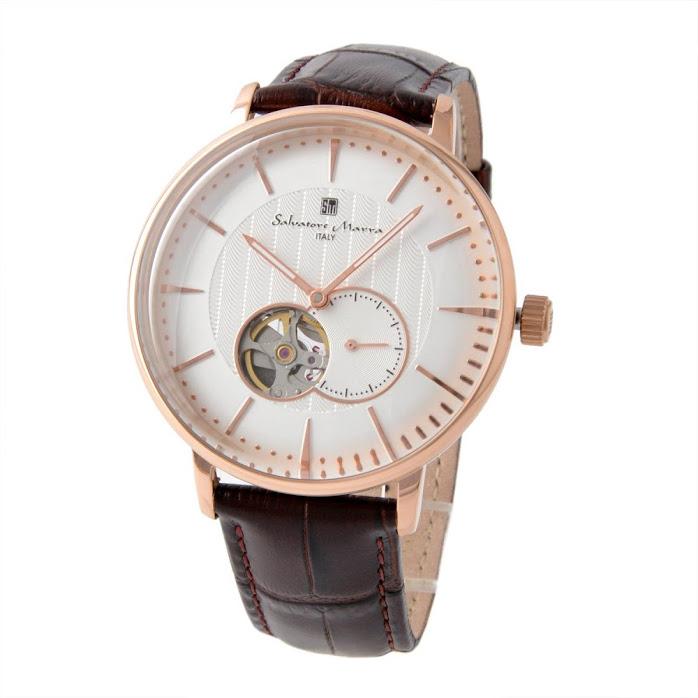 サルバトーレ・マーラ Salvatore Marra SM17114-PGWH メンズ 自動巻き 腕時計【r】【新品・未使用・正規品】
