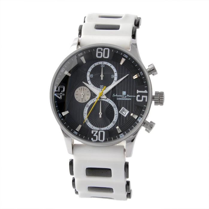 エントリーポイント10倍!サルバトーレ・マーラ Salvatore Marra SM16111-SSBK メンズ クロノグラフ 腕時計【r】【新品・未使用・正規品】