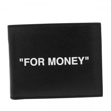 オフホワイト OMNC008R20853038 BK10012つ折小銭付き財布【】【新品/未使用/正規品】