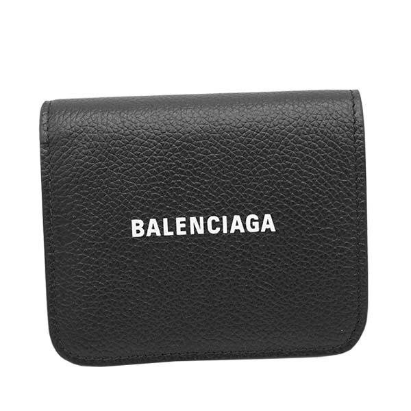 バレンシアガ 594216 1IZ4M BK 10902つ折小銭付き財布【c】【新品/未使用/正規品】