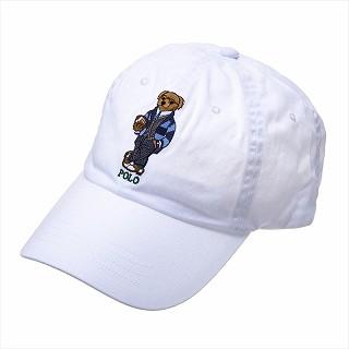 ラルフローレン RALPH LAUREN 710780290001 CAPキャップ帽子ホワイト【c】【新品/未使用/正規品】