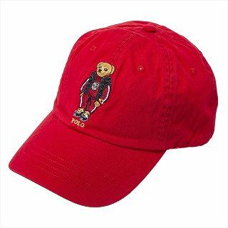 ラルフローレン RALPH LAUREN 710790278001 CAPキャップ帽子レッド【c】【新品/未使用/正規品】