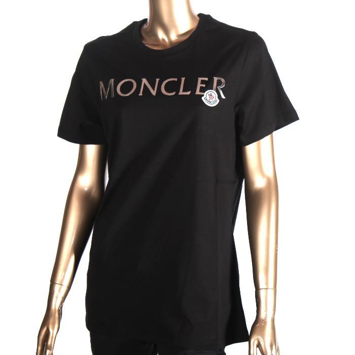 MONCLER モンクレール 半袖Tシャツ ブラック 8C71510 V8094 999 カットソー クルーネック レディース 【新品・未使用・正規品】売れ筋