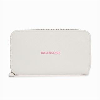 バレンシアガ BALENCIAGA 594290 1IZF3 9066 長財布ホワイトピンクロゴ【c】【新品/未使用/正規品】