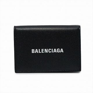 バレンシアガ BALENCIAGA 594312 1I313 1090 三つ折りミニ財布 ブラック【c】【新品/未使用/正規品】