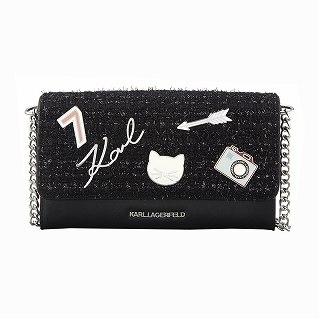 カールラガーフェルド Karl Lagerfeld 96KW3222 A999 ショルダーバッグ財布 ブラック【c】【新品/未使用/正規品】